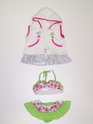 Swimsuit & Coverup Outfit Teddy Bear Clothes Fit 14