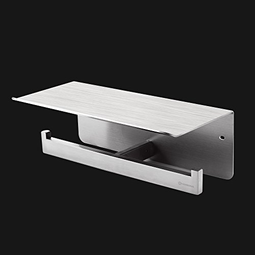 Homeideas Double Toilet Paper Holder Sus304 Stainless