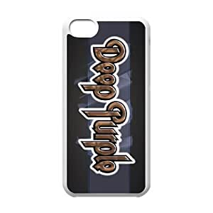 iPhone 5c Cell Phone Case White Deep Purple 006 JSY4238401KSL