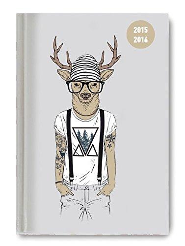 Collegetimer Pocket Deer 2015/2016 - Schülerkalender A6 - Weekly - 224 Seiten