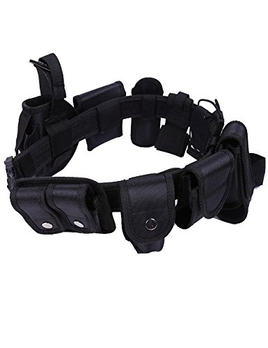 Menschwear Tactical Police Security Guard Equipment Duty Utility Kit Nylon Belt with Pouches System Holster Outdoor Training 10pcs set 45'' 50mm by Menschwear