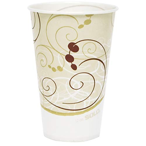 12 Oz Waxed Cold Cup - Solo R12N-J8000 12 oz Symphany Waxed Paper Cold Cup (Case of 2000)