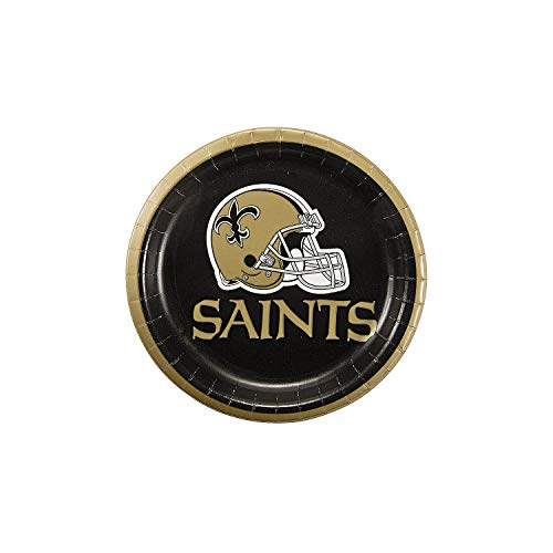 (Fun Express - Nfl New Orleans Saints Dessert Plates for Party - Party Supplies - Licensed Tableware - Licensed Plates & Bowls - Party - 8 Pieces)
