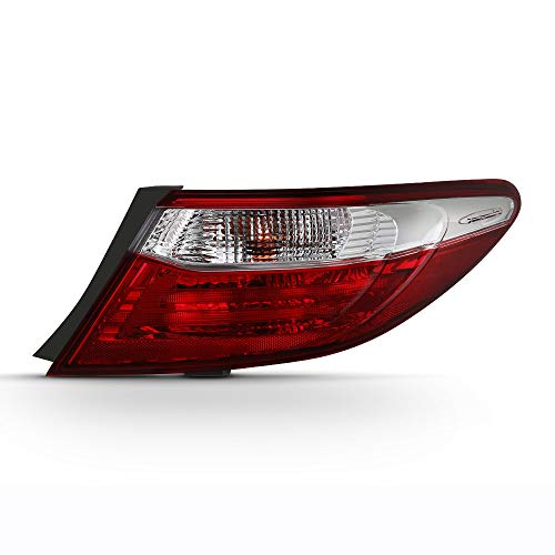 VIPMOTOZ For 2015-2017 Toyota Camry Outer Passenger Side OE-Style Red Lens Body Right Tail Light Housing Lamp Assembly Replacement