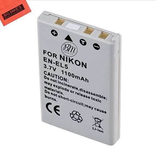 BM Premium EN-EL5 Battery for Nikon Coolpix P80, P90, P100, P500, P510, P520, P530 Digital Camera