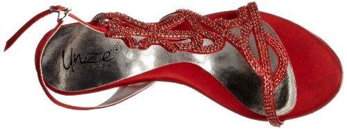 Unze Evening Sandals L18227W - Sandalias para mujer Rojo