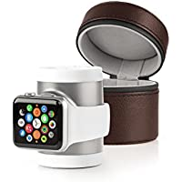 Recharge Apple Watch Power and Travel case - Silver/White