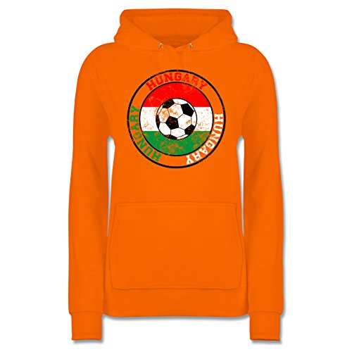 Shirtracer Fußball Hungary Kreis amp; Fußball Vintage Damen Hoodie ...