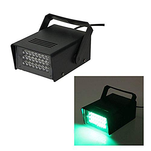 ENUOLI Mini LED Strobe Light Blue Color with 24 Super Bright LEDs Variable Speed Control for Christmas Clubs Stage Light Effect DJ Disco Bars Parties Halloween (Green Color)