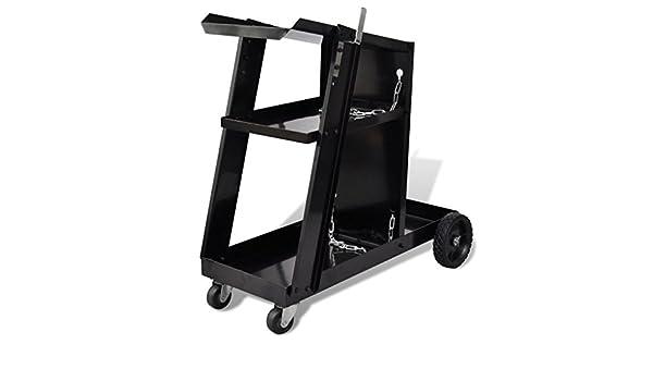 Mueble para estación de soldadura con 3 estantes negro con acero: Amazon.es: Bricolaje y herramientas