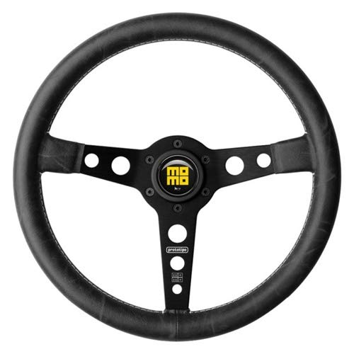 Leather Prototipo - Momo PRH35BK2B Steering Wheel (Prototype Heritage Leather Black)