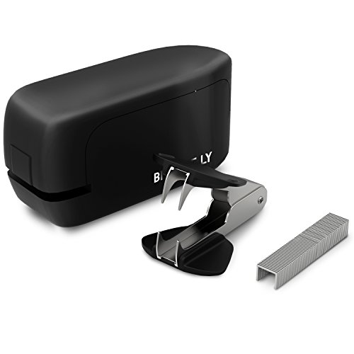 20 Sheet No-Jam Automatic Stapler by Bizarre.ly - Professional Heavy Duty Office Stapler with Precise Stapling Technology - Quiet, Compact & Cordless - Includes Free Staples, Staple Remover & - In Outlets Premium Ga