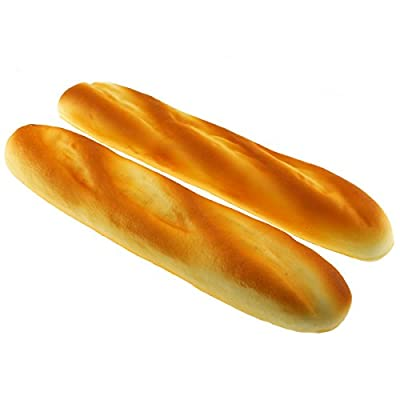 Gresorth 2 PCS PU Material Fake Cake Artificial French Long Bread Decoration Model Kitchen Toys Prop