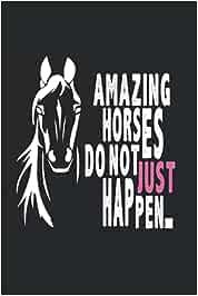 Sorprendentes Caballos Potros: Din caballo regalado montar A5 cuaderno con 120 páginas