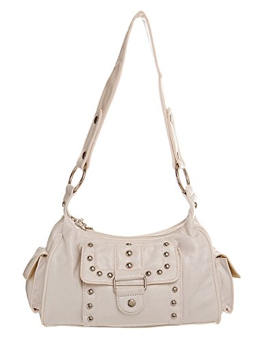 Silver Studded Hobo women handbag Shoulder Handbag by Handbags For All by Handbags For All