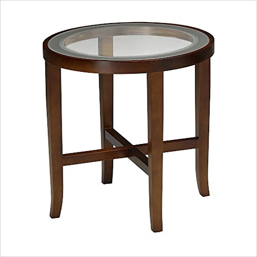 Mayline M106RSCR Illusion Round Glass Top End Table 22