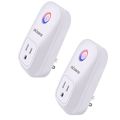 Wi-Fi Smart Plug, DILISENS Smart Outlet Socket Switch ,No Hub Required, Wi-Fi, Control Your Devices from Anywhere, Works w/ Amazon Alexa (2 Pack)