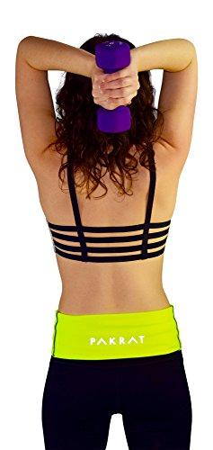 PakRat Running Belt Waist Pack – Runners Fold Over Belt, Fanny Pack for Jogging, Exercise or Travel, Holds Phone, Money, Keys - Now Customizable