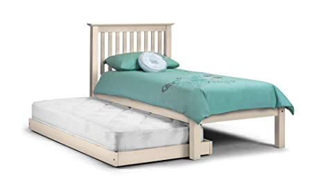 Happy Beds Feliz Camas Barcelona escondite Invitados Cama 3 ft Single Color Blanco Madera de Pino