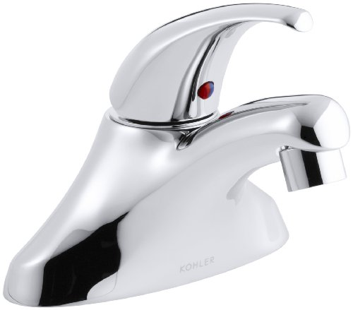 KOHLER K-15593-F-CP Coralais Single-Control Centerset Lavatory Faucet with 0.5 gpm Spray and 3-1/4
