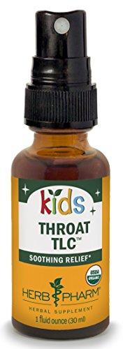 Herb Pharm Kids Certified-Organic Alcohol-Free Throat TLC Herbal Spray, 1 Ounce