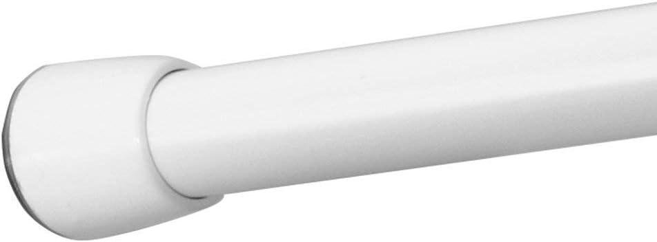 Asta telescopica doccia corta e regolabile 66-107 cm bronzo Asta tenda doccia robusta in metallo resistente iDesign Asta doccia per tende