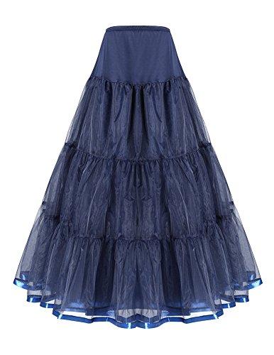 Evening Gown Petticoat Bridal Crinoline Navy Blue Size S M