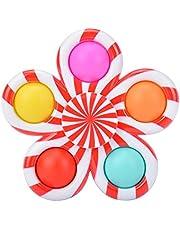 Kine Fidget Spinner Push & Pop Bubble it Sensory Fidget Toys, anti-stress speelgoed, tang, sensorisch, geiten, eenvoudig