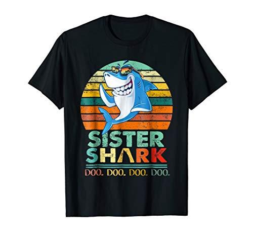 Retro Sister Shark T-Shirt. Doo Doo Doo Tee.