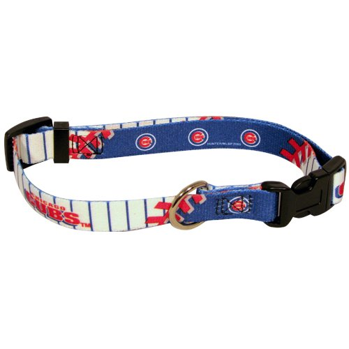 Hunter MFG Chicago Cubs Dog Collar, Large, My Pet Supplies