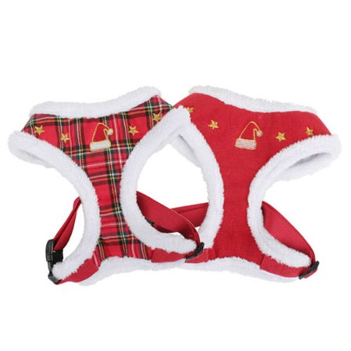Puppia Santa Harness A, Large, Red, My Pet Supplies
