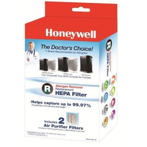 Genuine Honeywell True HEPA Replacement Filter R (2-FILTER PACK HRF-R2) by Honeywell True HEPA