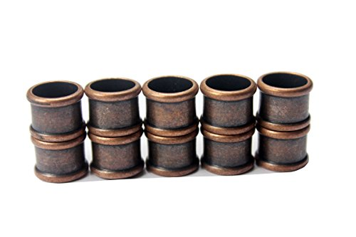 10pcs 9mm Inner Hole Bamboo Shape Antique Copper Plated Magnetic Clasp (Antique Copper)