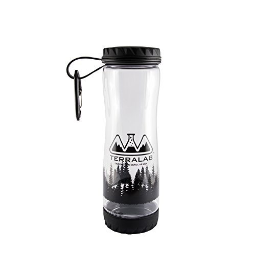 - TERRA LAB :: BPA-Free Tritan Plastic :: Water Bottle :: with Wide Mouth Flat Cap and Ultra Drain Technology, Clear 750ml