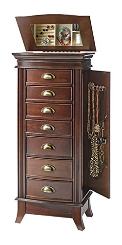 - Hives and Honey 9006-554 Alexa Jewelry Armoire, Large, Walnut