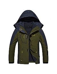 Dnstar Men's 3in1 Fleece Hooded Outdoor Winter Windproof Jackets