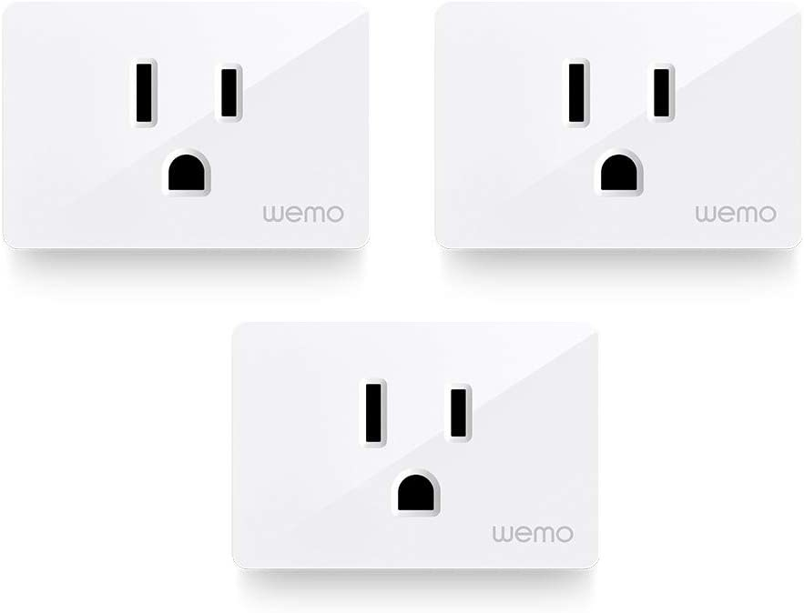 Wemo Smart Plug 3-Pack (Smart Outlet for Smart Home, Control Lights and Devices Remotely Works w/Alexa, Google Assistant, Apple HomeKit) WiFi Smart Plug