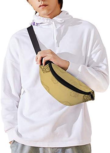 D20ダイスゴールドスモール ウエストバッグ ショルダーバッグチェストバッグ ヒップバッグ 多機能 防水 軽量 スポーツアウトドアクロスボディバッグユニセックスピクニック小旅行
