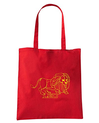 T-Shirtshock - Bolsa para la compra T0227 leone religioni celtic Rojo