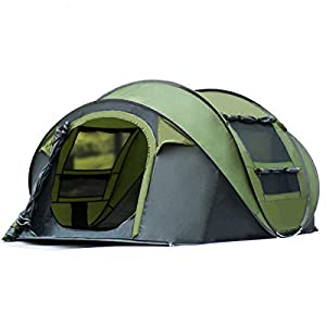 Qisan Automatic Camping Outdoor Pop-up Tent for Waterproof Quick-Opening Tents 4 Person Canopy with Carrying Bag Easy to…