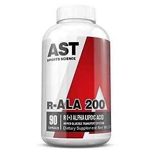AST Sports Science R-ALA 200 R[+]-Alpha Lipoic Acid, 200 mg, Capsules , 90 capsules