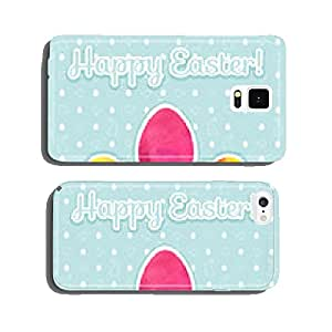 Easter_watercolor_background_and_seamless_pattern_with_eggs_rabb cell phone cover case iPhone6