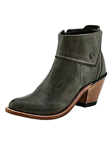 Old West Boots Womens Zippered Ankle Boot Grey cheap 2014 cheap price BJLW6cL