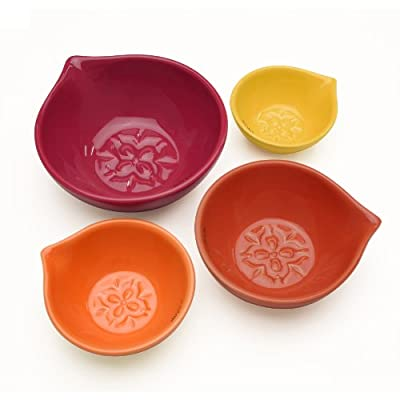 Chantal 95-MSC-4 MT Graduated Bowl Set, Multi-Terracotta