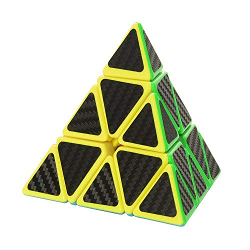 Twister.CK Pyramid Speed Cube Magic Cube Brain Teasers Puzzles with Carbon Fiber ()