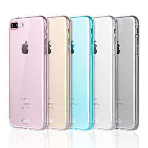 iPhone 7 Plus Case, iPhone 8 Plus Case, Pofesun Crystal Clear TPU Case Cover for iPhone 7 Plus (2016)/iPhone 8 Plus (2017)- (Gel Case Pack)