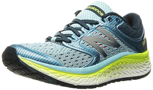 New Balance Women's Fresh Foam 1080v7 Running Shoe,Ozone Blue Glo/Lime Glo,US 7.
