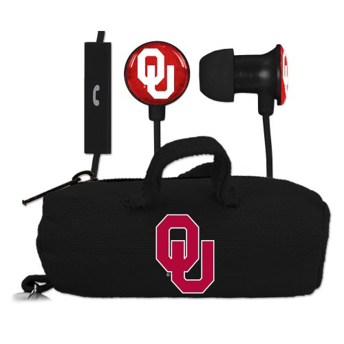 University Oklahoma Sooners Earbuds Microphone product image