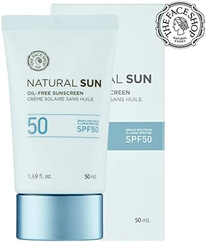 [THEFACESHOP] Natural Sun Oil-Free Sunscreen Broad Spectrum SPF 50 (50 ML / 1.69 FL.OZ)