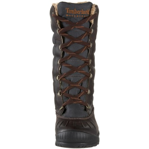 Timberland Mount Holly Lace Duck- Botas impermeables de caña alta para mujer Marrón